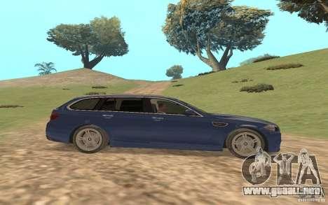 BMW M5 F11 Touring para la vista superior GTA San Andreas