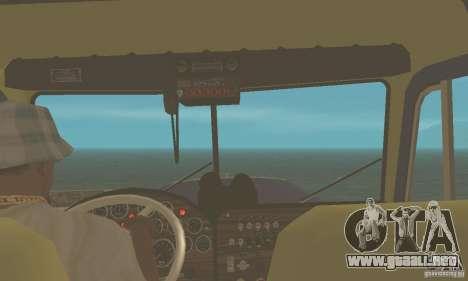 Peterbilt 359 1978 para la visión correcta GTA San Andreas