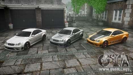 Mercedes Benz CLK63 AMG Black Series 2007 para GTA 4 vista desde abajo