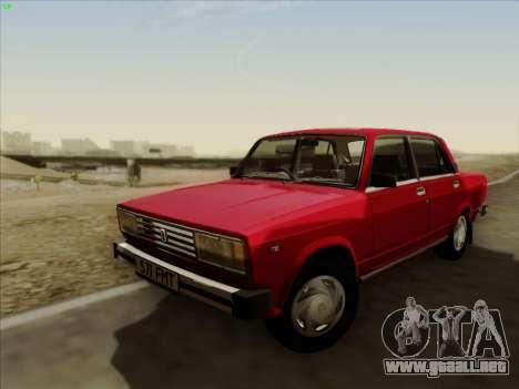 Lada 2105 RIVA (exportación) 2.0 para GTA San Andreas vista posterior izquierda