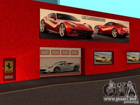 Nuevo Showroom de Ferrari en San Fierro para GTA San Andreas tercera pantalla