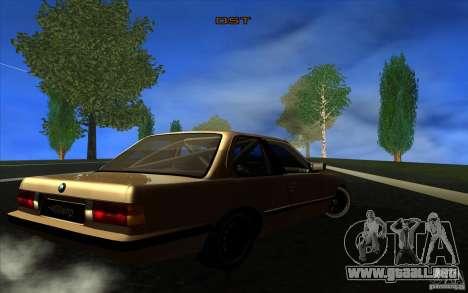 BMW E30 2.7T para la visión correcta GTA San Andreas