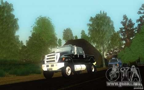 Ford F-650 para visión interna GTA San Andreas