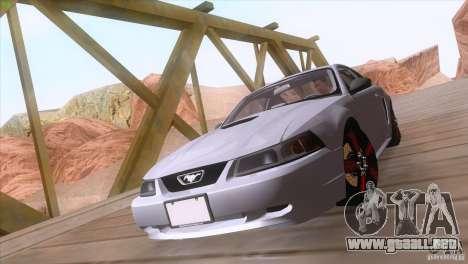 Ford Mustang GT 1999 para visión interna GTA San Andreas