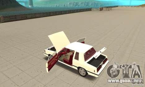 Dodge Aries 1983 para visión interna GTA San Andreas