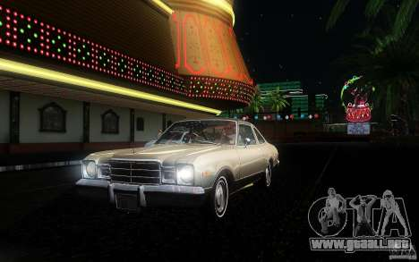 Plymouth Volare Coupe 1977 para la vista superior GTA San Andreas