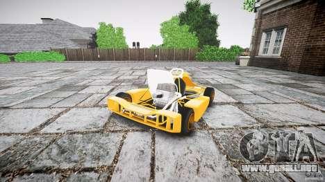 Karting para GTA 4 Vista posterior izquierda