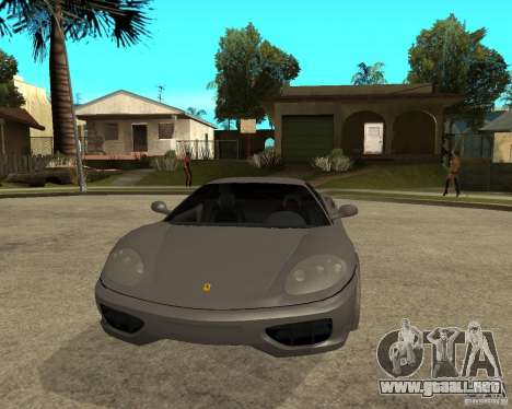 Ferrari 360 modena TUNEABLE para GTA San Andreas vista hacia atrás