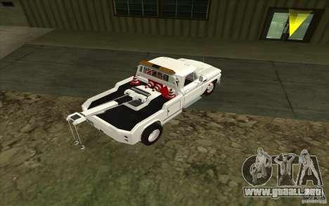 Camión de remolque Chevrolet para GTA San Andreas vista posterior izquierda
