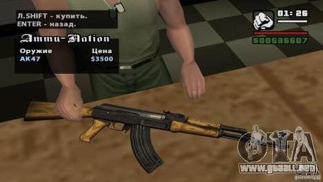 Asamblea de HD para GTA San Andreas octavo de pantalla