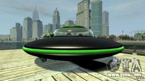 UFO neon ufo green para GTA 4 Vista posterior izquierda