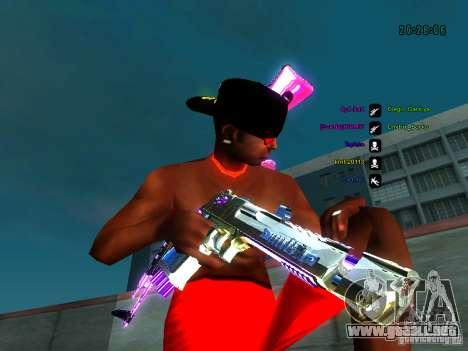 Cromo morado sobre armas para GTA San Andreas segunda pantalla