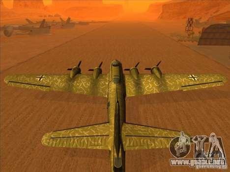 G B-17 Flying Fortress (Nightfighter versión) para GTA San Andreas left