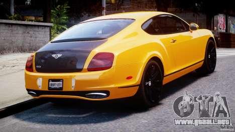 Bentley Continental SS 2010 ASI Gold [EPM] para GTA 4 Vista posterior izquierda