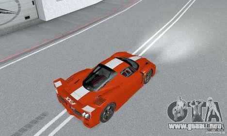 Ferrari FXX para GTA San Andreas vista posterior izquierda