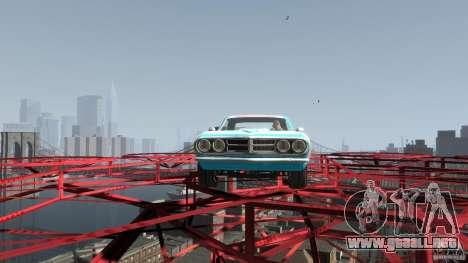 Afterburner Flatout UC para GTA 4 vista hacia atrás
