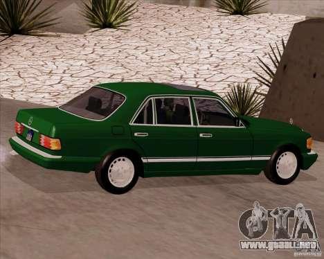 Mercedes-Benz 500SEL para GTA San Andreas left