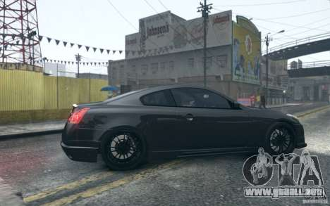 Infiniti G37 Coupe Carbon Edition v1.0 para GTA 4 vista hacia atrás