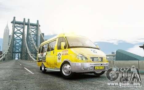Gacela 2705 Taxi v 2.0 para GTA 4 Vista posterior izquierda