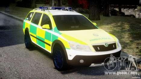 Skoda Octavia Scout Paramedic [ELS] para GTA 4 visión correcta