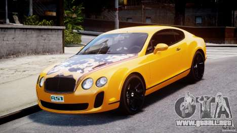 Bentley Continental SS 2010 ASI Gold [EPM] para GTA 4 vista hacia atrás
