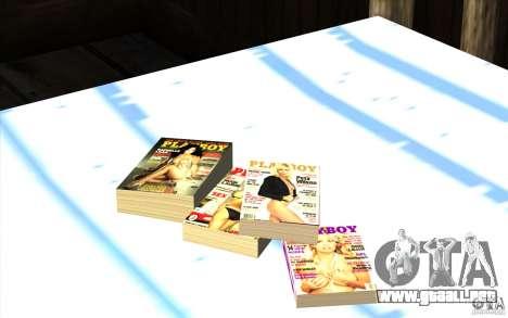 Playboy Magazines para GTA San Andreas tercera pantalla