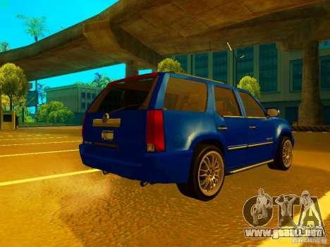 Cadillac Escalade para GTA San Andreas vista hacia atrás