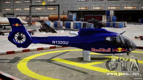 Eurocopter EC130 B4 Red Bull para GTA 4 vista interior
