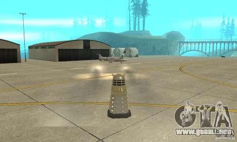 Dalek Doctor Who para GTA San Andreas vista hacia atrás