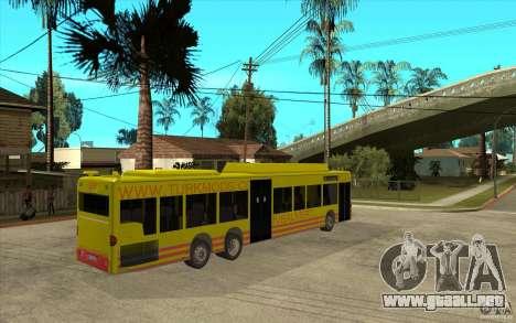 Mercedes Benz Citaro L para la visión correcta GTA San Andreas