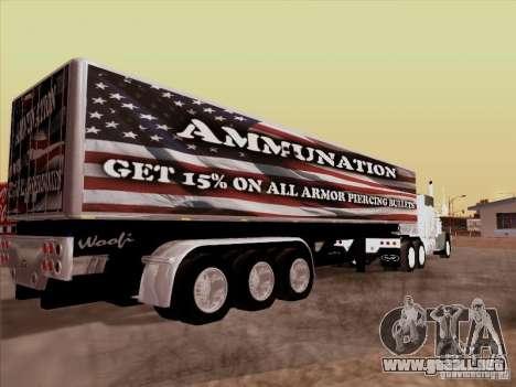 Trailer, Peterbilt 377 para GTA San Andreas left