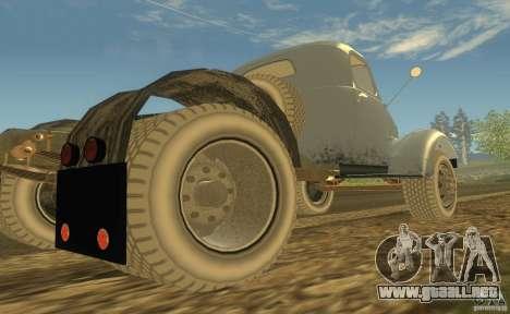 ZIL 164 Tractor para GTA San Andreas vista hacia atrás