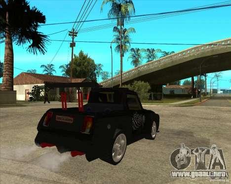 VAZ 2104 volk para GTA San Andreas vista posterior izquierda