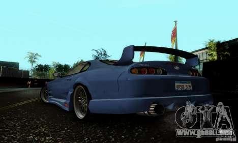 Toyota Supra TRD para GTA San Andreas vista posterior izquierda
