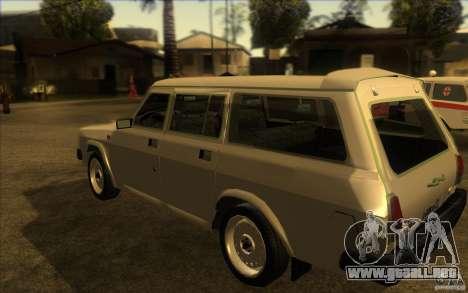 Volga GAZ 311021 para GTA San Andreas vista posterior izquierda
