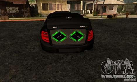 Lada Granta Dag Style para la visión correcta GTA San Andreas