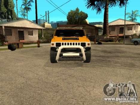 Hummer H2 4x4 diesel para GTA San Andreas left