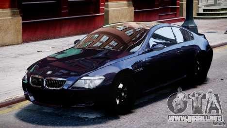BMW M6 Orange-Black Bullet para GTA 4 left