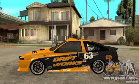 Toyota Corolla GT-S DriftWorks para GTA San Andreas left