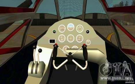 P38 Lightning para GTA San Andreas vista hacia atrás