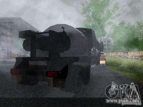 Remolque blindado combustible Mack Truck Titan para la visión correcta GTA San Andreas