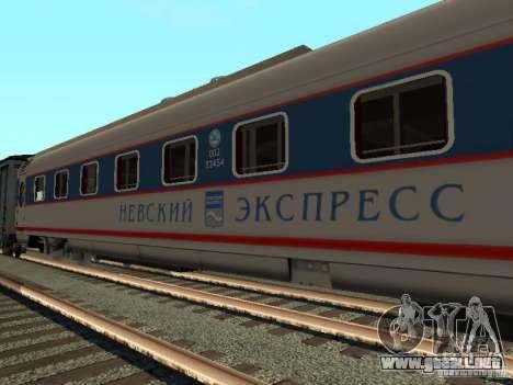 Nevsky express para GTA San Andreas left
