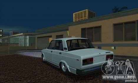 VAZ 2107 acuario para GTA San Andreas left