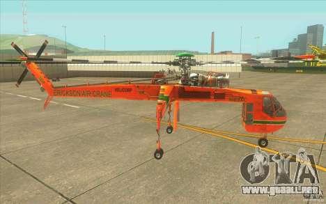 Sikorsky Air-Crane S-64E para GTA San Andreas left