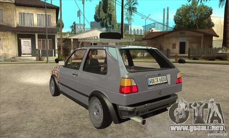 VW Golf Mk2 GTI para GTA San Andreas vista posterior izquierda