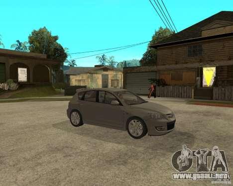 Mazda 3 Sport 2003 para la visión correcta GTA San Andreas