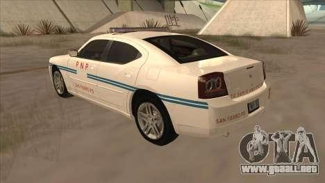 Dodge Charger PNP SAN FIERRO para la visión correcta GTA San Andreas