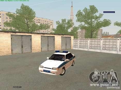 VAZ 2115 PPP policía para GTA San Andreas left