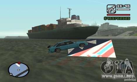 El trampolín para GTA San Andreas segunda pantalla
