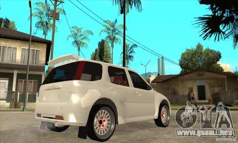 Suzuki Ignis Rally para la visión correcta GTA San Andreas